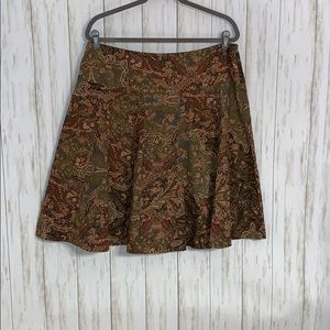 Size 14 Chaps Printed Fit and Flare Skirt